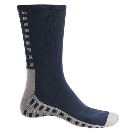 Ike Behar High-Performance Checker Socks - Crew (For Men) in Navy - Closeouts