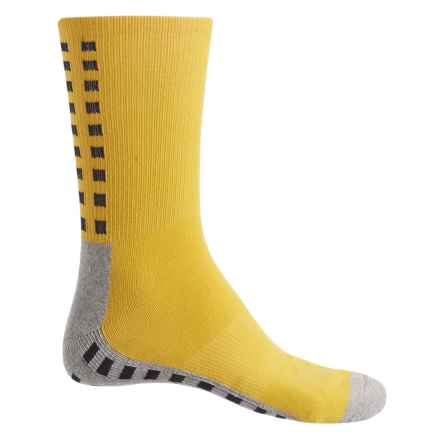 Ike Behar High-Performance Checker Socks - Crew (For Men) in Yellow - Closeouts