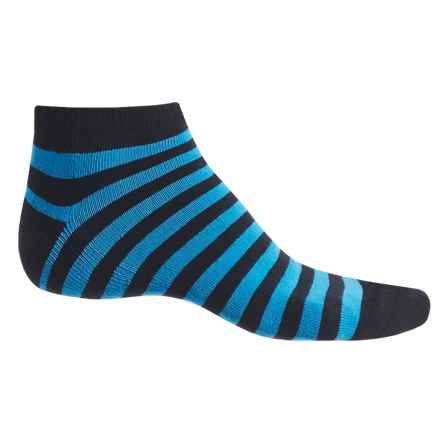 Ike Behar High-Performance Striped Socks - Ankle (For Men) in Aquarius - Closeouts