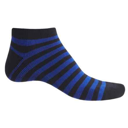 Ike Behar High-Performance Striped Socks - Ankle (For Men) in Blue - Closeouts