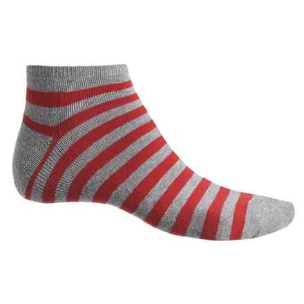 Ike Behar High-Performance Striped Socks - Ankle (For Men) in Sea Turtle - Closeouts