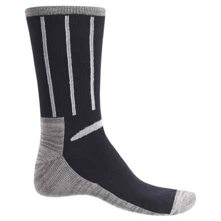 Ike Behar High-Performance Striped Socks - Crew (For Men) in Black - Closeouts
