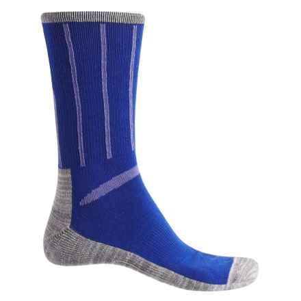 Ike Behar High-Performance Striped Socks - Crew (For Men) in Blue - Closeouts