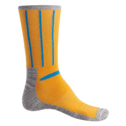 Ike Behar High-Performance Striped Socks - Crew (For Men) in Gold - Closeouts