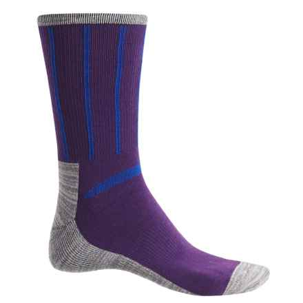 Ike Behar High-Performance Striped Socks - Crew (For Men) in Purple - Closeouts