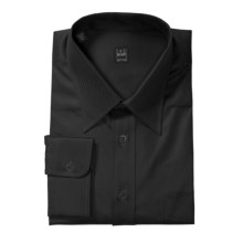 Ike Behar Point Collar Stripe Dress Shirt - Barrel Cuffs, Long Sleeve (For Men) in Black Tonal Angled Stripe - Closeouts