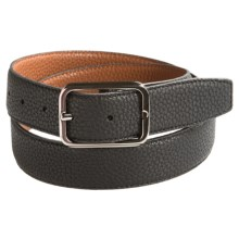Ike Behar Reversible Pebbled Leather Belt (For Men) in Black/Brown - Closeouts
