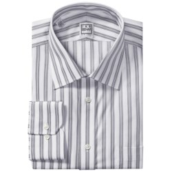 Ike Behar Silver Label Cotton Shirt - Long Sleeve (For Men) in Eggplant