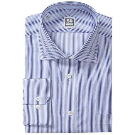 Ike Behar Silver Label Cotton Shirt - Long Sleeve (For Men) in Slate Blue