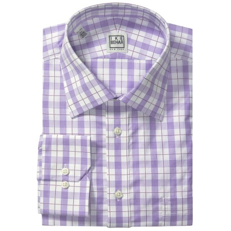 Ike Behar Silver Label Cotton Shirt - Long Sleeve (For Men) in Blue Bay