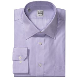 Ike Behar Silver Label Dress Shirt - Micro Stripe, Long Sleeve (For Men) in Purple