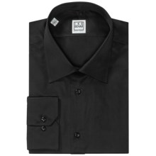 Ike Behar Silver Label Solid Dress Shirt - Long Sleeve (For Men) in Black - Closeouts