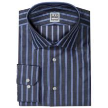 Ike Behar Silver Label Stripe Dress Shirt - Long Sleeve (For Men) in Pacific - Closeouts