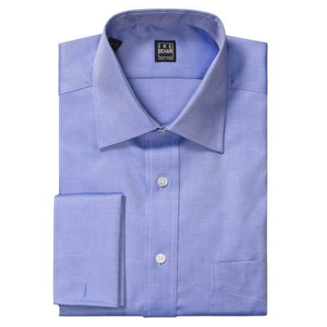 Ike Behar Solid Twill Dress Shirt - French Cuff, Long Sleeve (For Men) in Indigo
