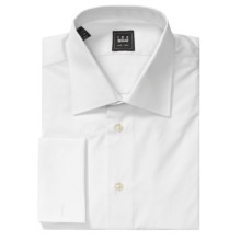 Ike Behar Solid Twill Dress Shirt - French Cuff, Long Sleeve (For Men) in White - Closeouts