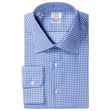 Ike by Ike Behar Check Dress Shirt - No-Iron Cotton, Long Sleeve (For Men) in Blue - Closeouts