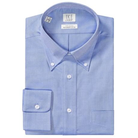 Ike by ike behar no iron solid twill dress shirt button for No iron shirts mens