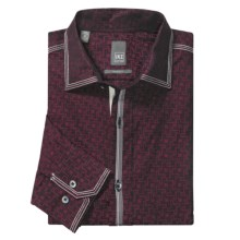 Ike New York Abstract Sport Shirt - Slim Fit, Long Sleeve (For Men) in Burgundy - Closeouts