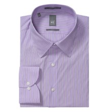 Ike New York Ground Stripe Dress Shirt - Slim Fit, Long Sleeve (For Men) in Purple Gumdrop - Closeouts