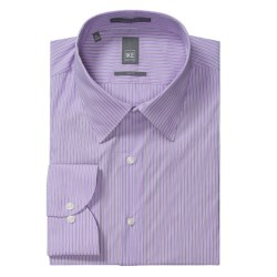 Ike New York Ground Stripe Dress Shirt - Slim Fit, Long Sleeve (For Men) in Purple Gumdrop
