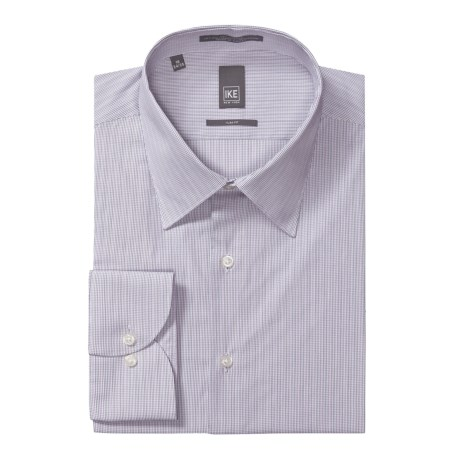 Ike New York Mini-Optic Check Dress Shirt - Slim Fit, Long Sleeve (For Men) in Purple Ash