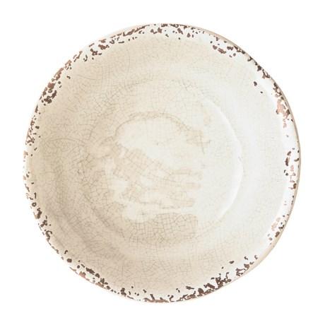 "Il Mulino Rusted Crackle Cream Melamine Bowl - 7"" in Cream"