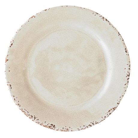 "Il Mulino Rusted Crackle Cream Melamine Salad/Dessert Plate - 9"" in Cream"