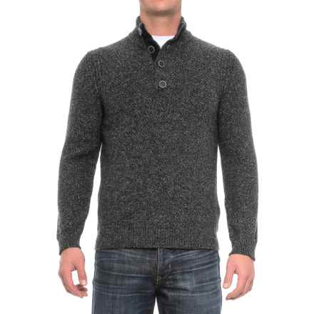 Immagini Button-Neck Marled Sweater (For Men) in Charcoal - Closeouts