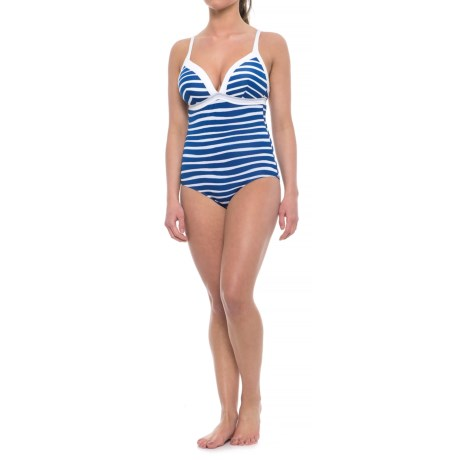 Immerse Francine One-Piece Swimsuit - Molded Cups (For Women) in Navy Waves