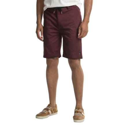 Imperial Motion Murphy Walk Shorts (For Men) in Burgandy - Closeouts