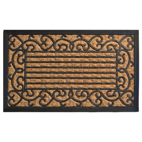 "Imports Decor Coir-Rubber Doormat - 18x30"" in Vine Border"