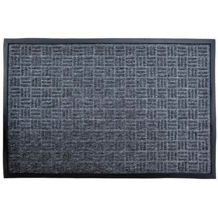 "Imports Decor Fabric-Topped Doormat - 24x36"" in Grey - Closeouts"