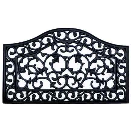 """Imports Decor Ornate Rubber Doormat - 18x30"""" in Country Gate - Closeouts"""