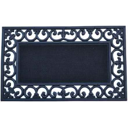"Imports Decor Ornate Rubber Doormat - 18x30"" in Traypin - Closeouts"