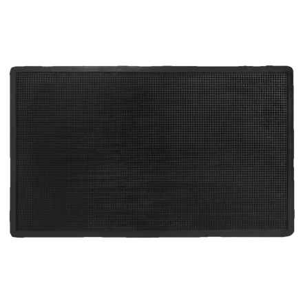 "Imports Decor Studded Rubber Doormat - 24x40"" in Black - Closeouts"