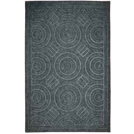 "Imports Decor Synthetic Doormat - 16x27"" in Circle Gray - Closeouts"