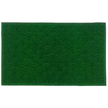 "Imports Decor Synthetic Doormat - 18x30"" in Shell Green - Closeouts"