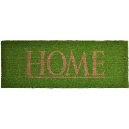 "Imports Decor Vinyl-Backed Long Coir Doormat - 18x48"" in Home - Closeouts"