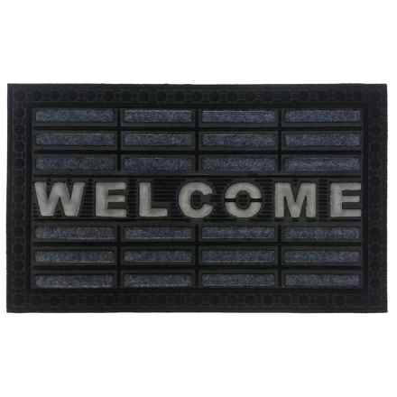 """Imports Decor Welcome Doormat - 18x30"""" in Gray - Closeouts"""