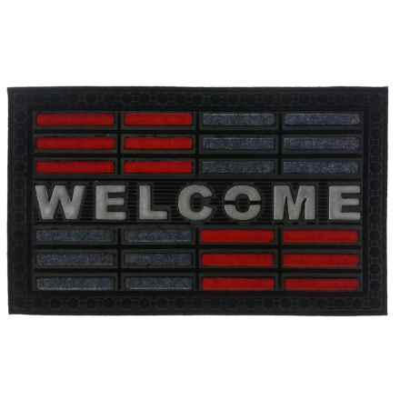 "Imports Decor Welcome Doormat - 18x30"" in Red - Closeouts"