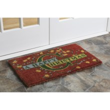 "Imports Unlimited Christmas Entry Mat - 18x30"", Coir in Happy Christmas - Closeouts"