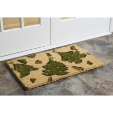 "Imports Unlimited Christmas Entry Mat - 18x30"", Coir in Whimsy Xmas Trees - Closeouts"