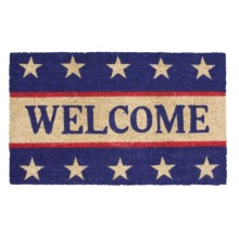 "Imports Unlimited Patriotic Welcome Entry Mat - Coir, 18x30"" in Red/White/Blue - Closeouts"