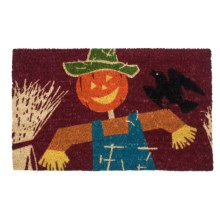 "Imports Unlimited Scarecrow Entry Mat - Coir, 18x30"" in Multi - Closeouts"