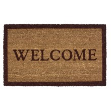 "Imports Unlimited Simply Welcome Entry Mat - Coir, 18x30"" in Burgundy/Natural - Closeouts"