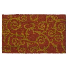 "Imports Unlimited Twirls Entry Mat - Coir, 18x30"" in Spice - Closeouts"