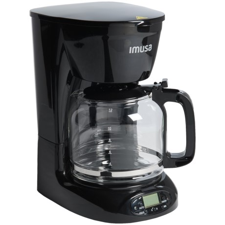 IMUSA Programmable Drip Coffee Maker - 12-Cup in Black