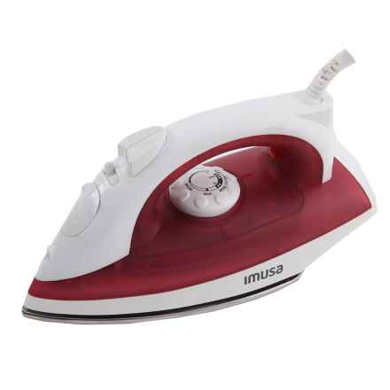 IMUSA Steam Iron - Stainless Steel Soleplate in Red - Closeouts
