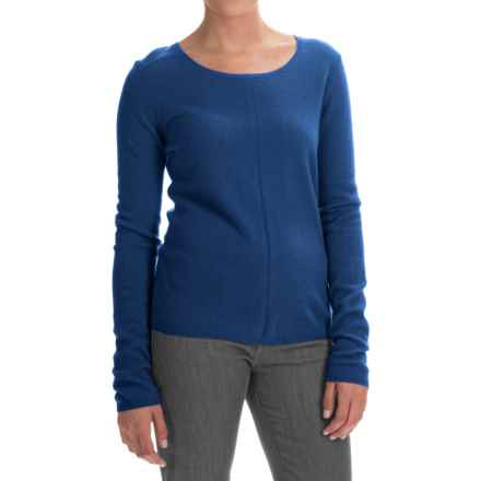 In Cashmere Basic Cashmere Sweater (For Women) in Denim - Closeouts
