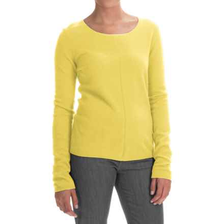 In Cashmere Basic Cashmere Sweater (For Women) in Dusty Yellow - Closeouts